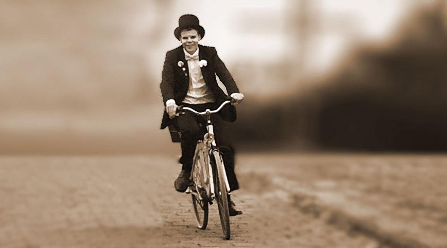 Tanja Schael, Anfahrt zur Praxis, Fahrradfahrer als Symbol